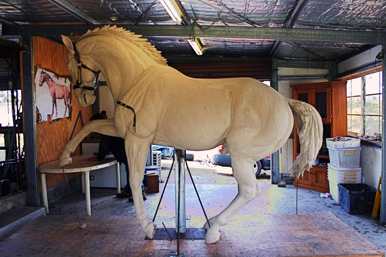 Original horse sculpture prior to master mould