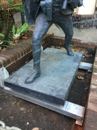 Fitting the Histrionic Wayfarer base in place at Shore Grammar School