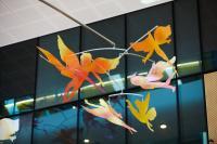 Jade Oakley winged figures Sky Garden installation