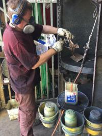 Maintenance on small sculpture